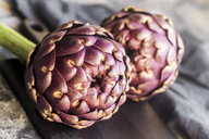 Purple artichokes, close-up - SARF03574