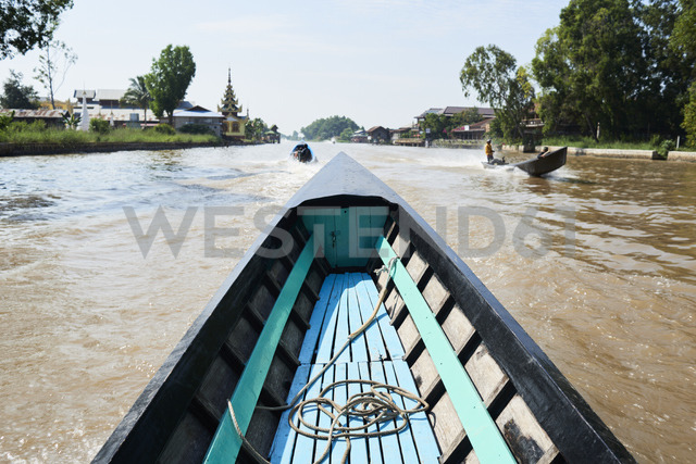Myanmar, Inle lake, Fishing boat - IGGF00416