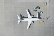 Aerial view of airplane and vans - FSIF02073