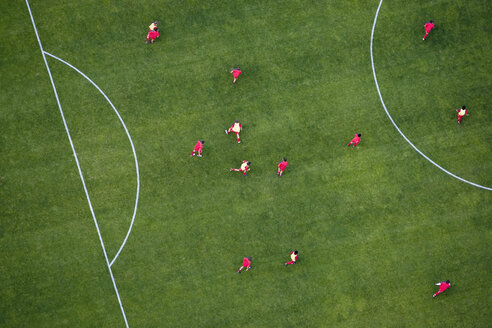 Aerial view of football match - FSIF02343