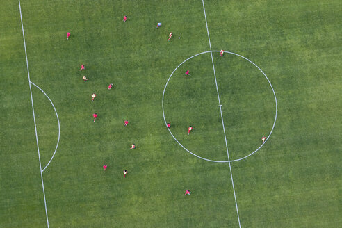 Aerial view of football match - FSIF02346