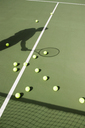 Shadow of a tennis player on the court - FSIF02418