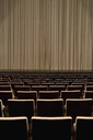 Closed curtain in an empty theater - FSIF02442