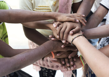 Group of multiethnic people, hands, together - IGGF00428