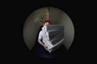 A pizza delivery man, portrait - FSIF02602