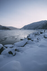 Russia, Amur Oblast, Bureya River in winter - VPIF00315