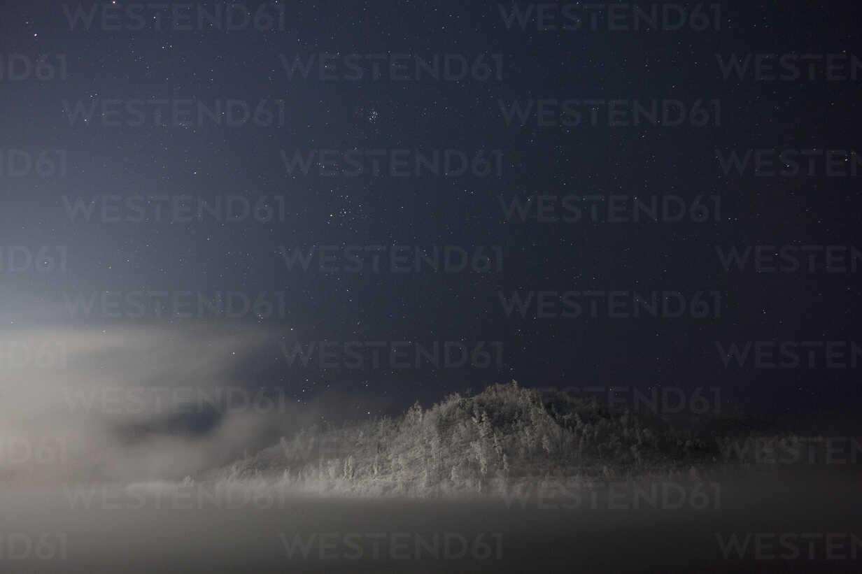 Russia, Amur Oblast, Bureya River in winter by night - VPIF00318 - Vasily Pindyurin/Westend61