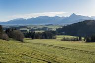Germany, Bavaria, Allgaeu, East Allgaeu, Ammergau Alps with Saeuling - LBF01770