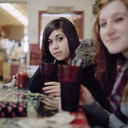 Two young women at a cafe - FSIF02945