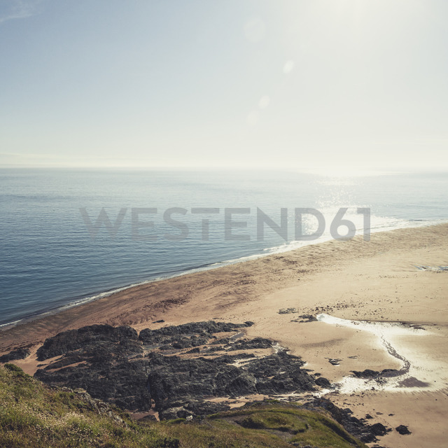 France, Lower Normandy, Barneville-Carteret, View from Cap Carteret to Guernsey - DWIF00896