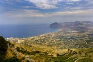 Italy, Sicily, Province of Trapani, Erice, Coast and Monte Cofano - LBF01787