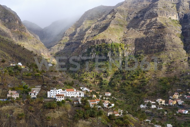 Spain, Canary Islands, La Gomera, Valle Gran Rey, Lomo del Balo - SIEF07743