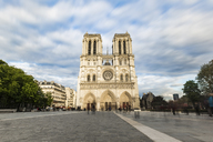 France, Ile-de-France, Paris, Notre Dame cathedral, long exposure - WPEF00122