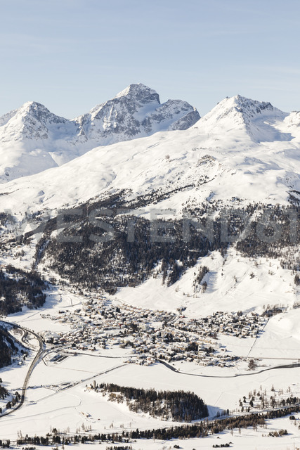 Switzerland, Engadin, St. Moritz seen from above - MRAF00258
