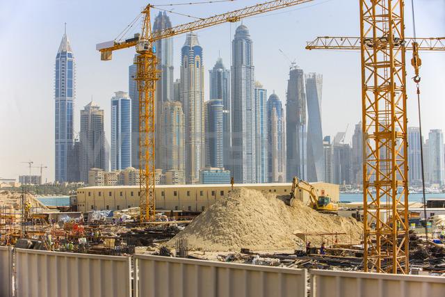 United Arab Emirates, Dubai, construction site - ZEF15015
