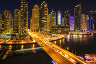 United Arab Emirates, Dubai, Dubai Marina at night - ZEF15024