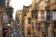 Malta, Valletta, Old town, facades with balconies - FC01351