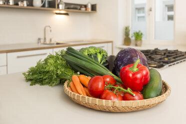 Fresh vegetable on kitchen counter - JHAF00011