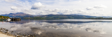 United Kingdom, Scotland, Luss, Loch Lomond and The Trossachs National Park, Loch Lomond, mooring area - WDF04445
