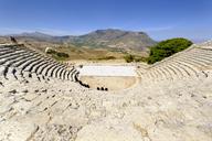 Italy, Sicily, Segesta, ancient Greek amphitheatre - LBF01795