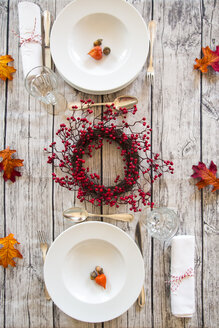Autumnal laid table - LVF06738