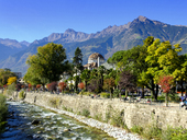 Italy, South Tyrol, Meran, Kurhaus and Passer river - LBF01799