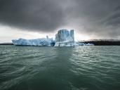 Argentina, Patagonia, El Calafate, Puerto Bandera, Lago Argentino, Parque Nacional Los Glaciares, Estancia Cristina, broken iceberg - AMF05664