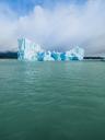 Argentina, Patagonia, El Calafate, Puerto Bandera, Lago Argentino, Parque Nacional Los Glaciares, Estancia Cristina, broken iceberg - AMF05670