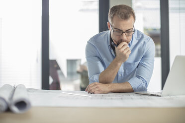 Man thinking about plan in office - ZEF15052