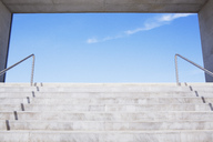 Concrete steps leading to blue sky - CAIF00277