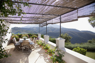View of mountains from luxury balcony - CAIF00328