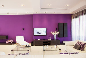 Purple wall in luxury living room - CAIF00382