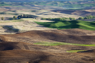Aerial view of rolling landscape - CAIF00415