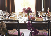 Table set for wedding reception - CAIF00749