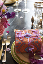 Table set for wedding reception - CAIF00761