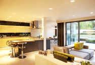 Kitchen and living room in modern home - CAIF01004