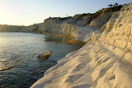 Italy, Sicily, Province of Agrigento, Realmonte, Scala dei Turchi at sunset - LBF01817