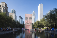 USA, Illinois, Chicago, Crown Fountain - FO09962