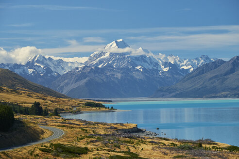New Zealand, South Island, Lake Pukaki, Mount Cook - MRF01776