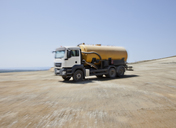 Blurred view of truck in quarry - CAIF01360