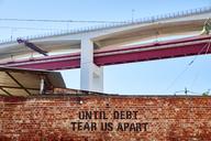 Portugal, Lisbon, Ponte 25 de Abril, LX Factory, Until debt tear us apart - MR01827