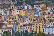 Italy, Sardinia, Bosa, old town, colorful houses - MRF01900
