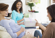 Pregnant woman having baby shower - CAIF02698