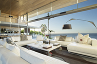 Sofas and table in modern living room - CAIF02731