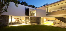 Backyard of modern house - CAIF02737