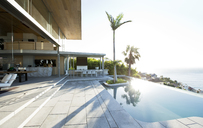 Palm tree in infinity pool - CAIF02755