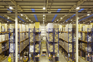 Stacks of boxes in warehouse - CAIF02785