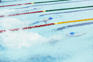Swimmers racing in pool - CAIF03781