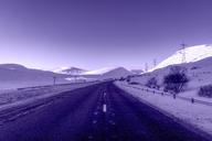 United Kingdom, Scotland, Highlands, A9 road, empty road in winter - SMAF00950