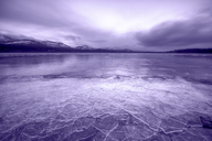 United Kingdom, Scotland, Highlands, Cairngorms National Park, Loch Morlich, ice covered - SMAF00953
